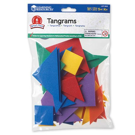 Modele Tangram - Set de 42 buc - Eduvolt
