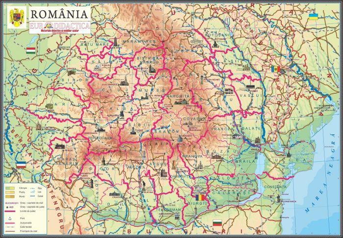 Harta Romaniei Pentru Copii 1400x1000 Mm Eduvolt
