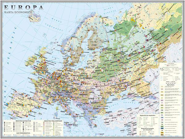 Europa Harta Economică 1400x1000 Mm Eduvolt