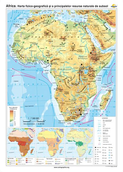 Africa Harta Fizico Geografică Si A Principalelor Resurse
