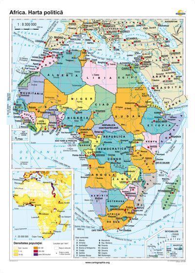 Africa Harta Politica 1600x1200 Mm Eduvolt