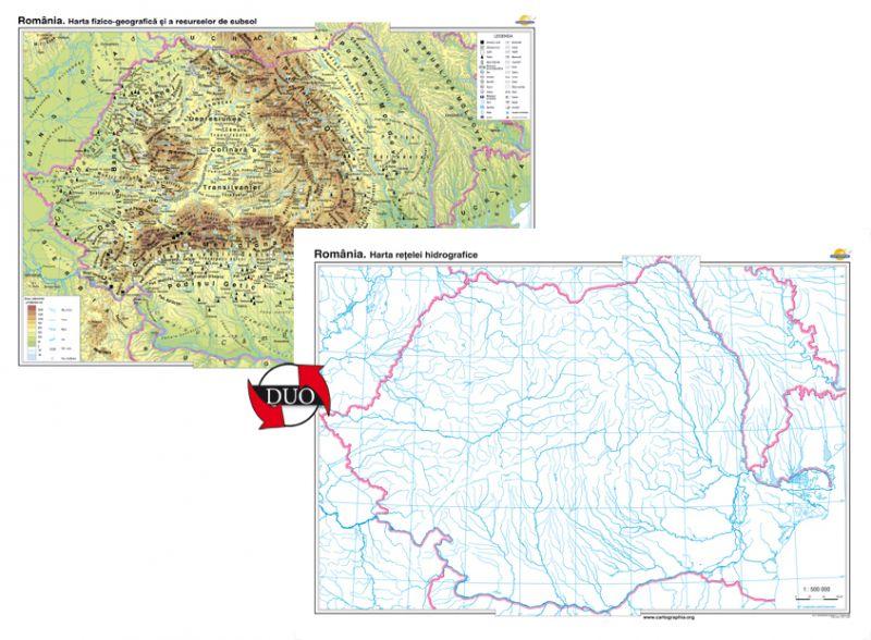 Romania Harta Fizico Geografică Si A Resurselor Naturale De